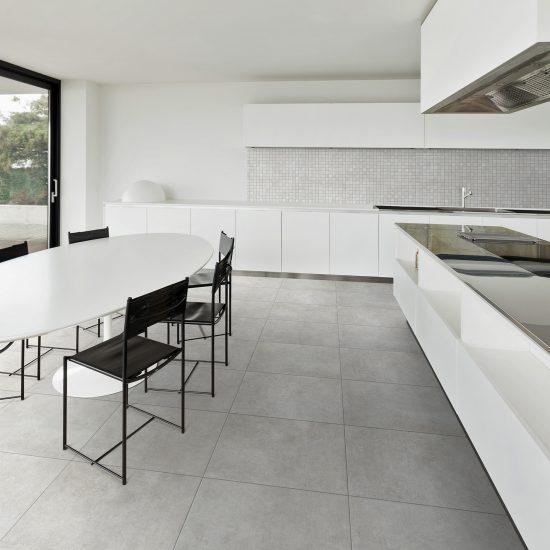 Architecture, beautiful interior of a modern villa, domestic kitchen
