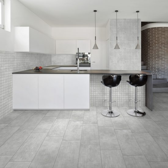FACTORY GREY 3060+MOSAICO cucina