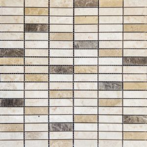 Mozaic Marmura - 3 Emperadores - Lustruit- 1,5 x 4,8 x 1 cm
