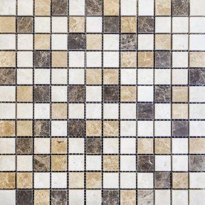 Mozaic Marmura - 3 Emperadores - Lustruit - 2,3 x 2,3 x 1 cm