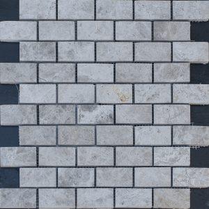Mozaic Marmura - Silver Shadow P - 2 5 x 5 x 1 cm