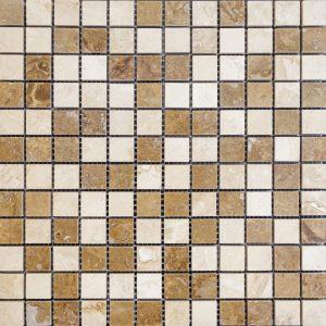 Mozaic Travertin - Classic_Noce - 2,3 x 2,3 x 1 cm