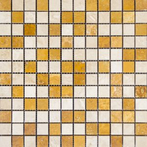 Mozaic Travertin - Classic_Yellow_Lustruit, 2,3 x 2,3 x 1 cm