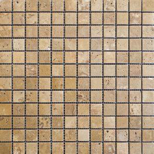 Mozaic Travertin - Noce Antichizat - 2,3 x 2,3 x 1 cm