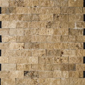 Mozaic Travertin - Noce Cioplit 2,3 x 4,8 x 1 cm