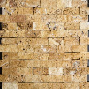 Mozaic Travertin - Saffron Cioplit - 2,3 x 4,8 x 1 cm