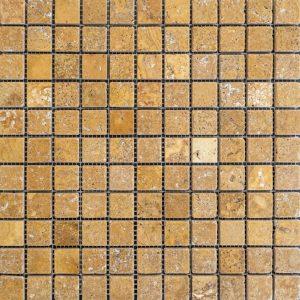 Mozaic Travertin - Yellow Antichizat 2,3 x 2,3 x 1 cm
