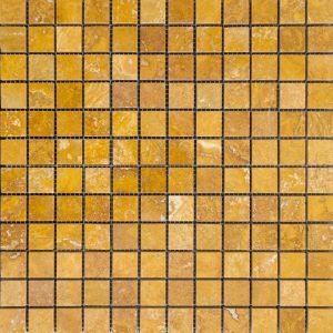 Mozaic Travertin - Yellow - Lustruit - 2,3 x 2,3 x 1 cm