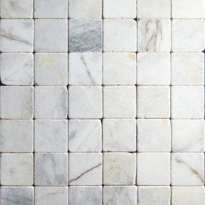 Placi Marmura - White - Antichizat 10 x 10 x 1 cm