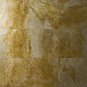 Placi Travertin - Golden - Slefuit Chituit - 30,5 x 30,5 x 1 cm