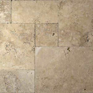 Placi Travertin - Kale Rustic Antichizat - French Pattern - 1,2cm