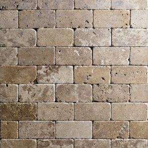 Placi Travertin - Noce Antichizat - 7,6 x 15 x 1 cm