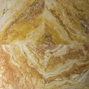 Placi Travertin - Peach Blend - Slefuit Chituit - 45,7 x 45,7 x 1,2 cm