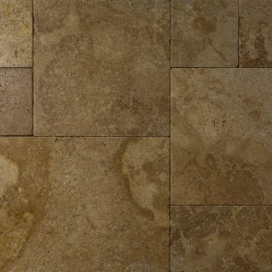 Placi Travertin - Terra Antichizat - French Pattern - 1,2 cm