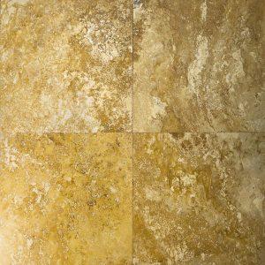 Placi Travertin - Yellow - Lustruit Chituit - 45,7 x 45,7 x 1,2 cm