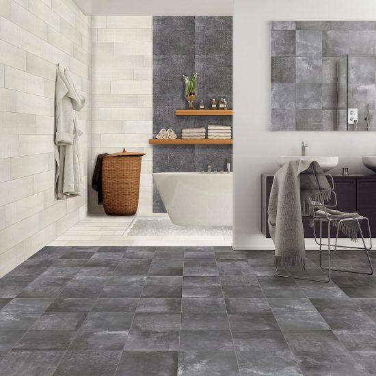 Shoot of modern spa-like bathroom. Render image.